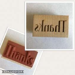 Rubber Stamp Thanks Wood Mount by Clearsnap