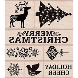 Hero Arts Rubber Stamps, Fancy Christmas