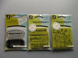 INKADINKADO RUBBER STAMPS CLEAR & CLING SEWING CRAFTING NEW