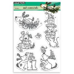 PENNY BLACK RUBBER STAMPS CLEAR CHRISTMAS FUN NEW clear STAM