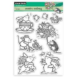 PENNY BLACK RUBBER STAMPS CLEAR GARDEN CRITTERS STAMP NEW cl