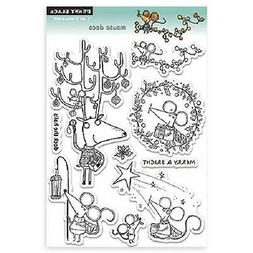 PENNY BLACK RUBBER STAMPS CLEAR MOUSE DECO CHRISTMAS STAMP S
