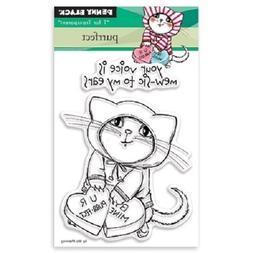 PENNY BLACK RUBBER STAMPS CLEAR PURRFECT CAT VALENTINE NEW S