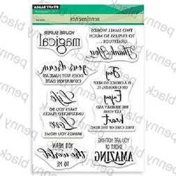 PENNY BLACK RUBBER STAMPS CLEAR SENTIMENTS STAMP NEW clear S