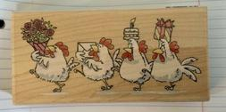PENNY BLACK RUBBER STAMPS  Cluck, Cluck CLUCK #2347 New