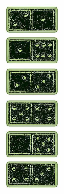 Inkadinkado Rubber Stamps - Dominoes, Gambling, Games Night,
