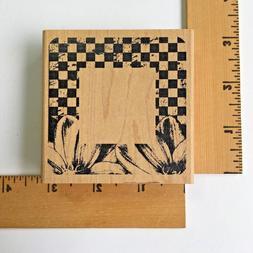 Inkadinkado Rubber Stamps - Floral Checkered Frame 98046-O