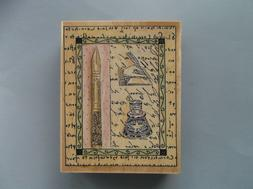 rubber stamps romance of letter new wood