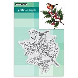 PENNY BLACK RUBBER STAMPS SLAPSTICK CLING CHEERFUL CHRISTMAS