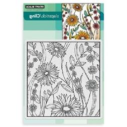 PENNY BLACK RUBBER STAMPS SLAPSTICK CLING FLOWER BOX NEW cli
