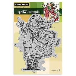 PENNY BLACK RUBBER STAMPS SLAPSTICK CLING GIFT OF LOVE NEW c