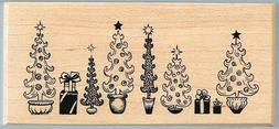 SALE New PSX Border of DECORATED CHRISTMAS TRES Tree & GIFTS