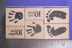 "**SALE** RUBBER STAMP SET ""TEN LITTLE ONES""  STAMPENDOUS"