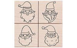 Hero Arts Santa Faces Set Rubber Stamp