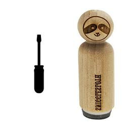 Screwdriver Silhouette Woodworking Tools Rubber Stamp for St