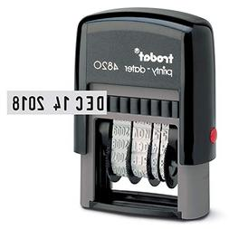 Trodat Self-Inking Stamp, Date Only, 3/8in. x 1 5/8in., 65%