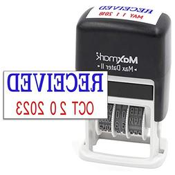MaxMark Self-Inking Rubber Date Office Stamp with RECEIVED P