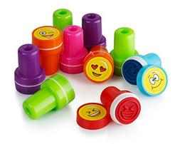 TOYMYTOY Plastic Stamps Funny Face Stampers 24PCS