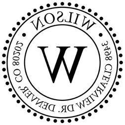 Self Inking Monogram Address Stamp - ExcelMark Style 320 - w