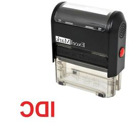 Self-Inking Novelty Message Stamp - IDC - Red Ink