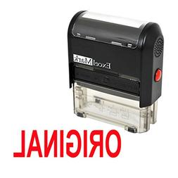 ORIGINAL Self Inking Rubber Stamp - Red Ink