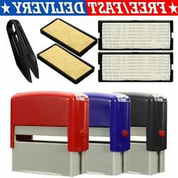 Self-Inking Rubber Stamp Kit DIY Personalised Customized Bus