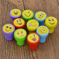 10 Pcs Self Inking Rubber Stamp Smile for Business School Of