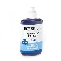 Self Inking Stamp Refill Ink by ExcelMark - 2 oz. - Red Ink