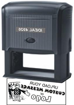 Extra Large Self Inking Stamp - Custom Text Message - Up to