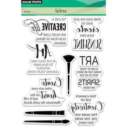 Sentiments Artful Create Clear Unmounted Rubber Stamp Set PE