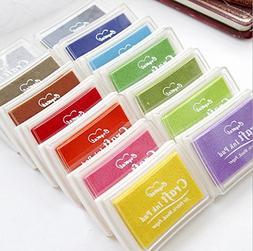 DTOL Set 15 Pcs Craft Ink Pad Korea Stamps Partner Diy Color