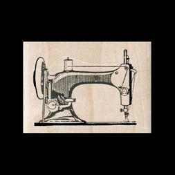 SEWING MACHINE Rubber Stamp VINTAGE Sewing Machine Old Schoo