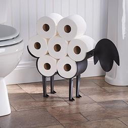 ART & ARTIFACT Sheep Toilet Paper Holder - Free-Standing Bat