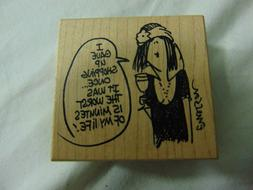 Shopping Rubber Stamp by American Art Funny Saying 2x2