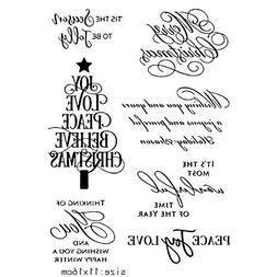 Silicone Christmas Tree Stamp Clear Rubber Stamps DIY Scrapb
