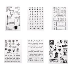 Silicone Clear Rubber Stamp for Scrapboo Album Diary Decorat