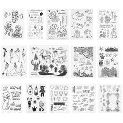 Silicone Clear Rubber Stamps Seal DIY Scrapbooking Album Car