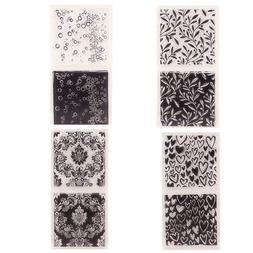 Silicone Clear Stamp Ink Pad Transparent Rubber Stamps DIY S