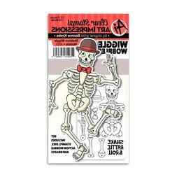 Art Impressions Skeleton Wiggle Wobble Halloween Stamp & Die