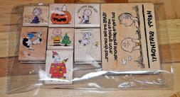 SNOPPY PEANUTS WOOD MOUNTED RUBBER STAMP LOT OF 8 BRAND NEW
