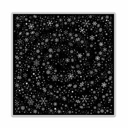 "Hero Arts ""SNOWFLAKE SWIRL"" Background Cling Bold Prints Sta"