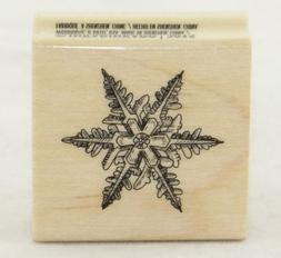 snowflakes christmas mounted rubber stamp