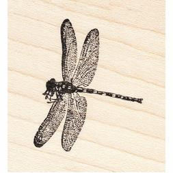 Soaring Dragonfly Beeswax Rubber Stamp Mounted Insects Anima