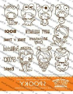 SPOOKY KIT-The Greeting Farm Rubber Stamp-Stamping Craft-Hal