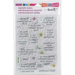 Spring Sentiments, Clear Unmounted Rubber Stamp Set STAMPEND