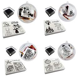 Best Stamp Card Making Rubber Stamps Ink Pad Set with Fillab