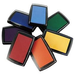 Best Stamp Non-Toxic Rainbow Ink Pad Set for Rubber Stamps -