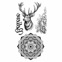 STAMPERIA HD Natural Rubber Stamp cm.10x16,5 Cosmos deer*Sta