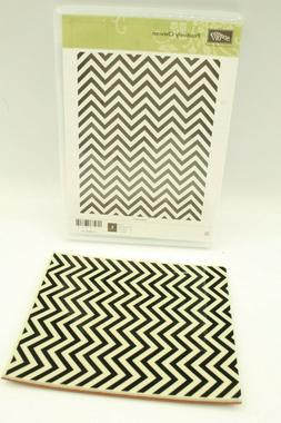 Stampin' Up! Positively Chevron Mounted Unused Rubber Stamp