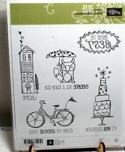 Stampin Up Red Rubber Stamp Set  - Life's Adventure